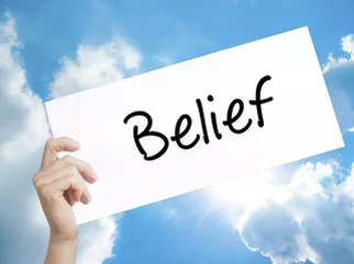 "The power behind the word ""BELIEF""…"