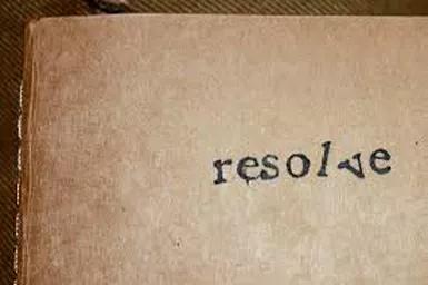 I resolve…