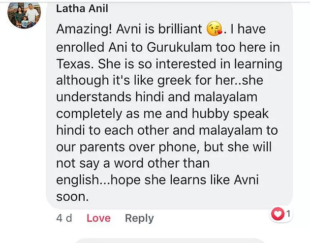 Snapshot from a proud mom of GURUKULAM