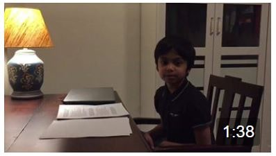 Contd..of the Mahishasura Mardini by Neel….Some amazing learning by this child!