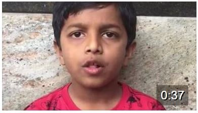 Hear Little Aryan say Ganesha's 16 names:) Super little one