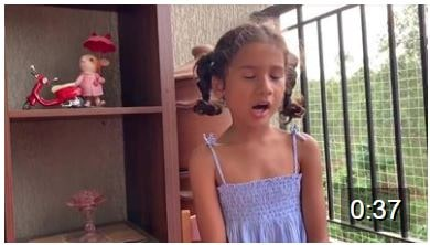 Hear beautiful Avni chant the 5 different names of Goddess Durga..God bless you child:)