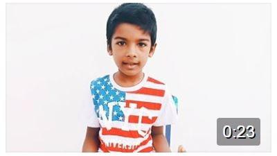 Achyutam Keshavam by Little Ritvik:) So adorable