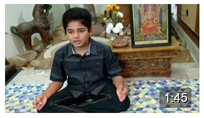Thats the very awesome Bharat chanting the Mahalakshmi Astakam.Thanks Aunty for taking the effort and sending across the video.