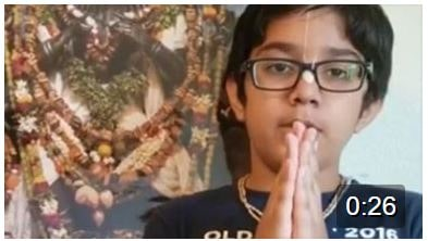 Krish chanting the Narasimha Prapatti….Awesome lil one!