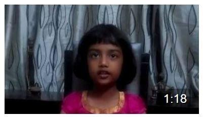 And thats Anoushka …heard of a 7 year old chant the Ganesha Dwadasa Naama Stotram….Brilliant little girl…Keep at it!