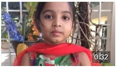 The adorable lil Harshini…Hear her -Just as little as 4 chanting the Narasimha Prapatti so well:)