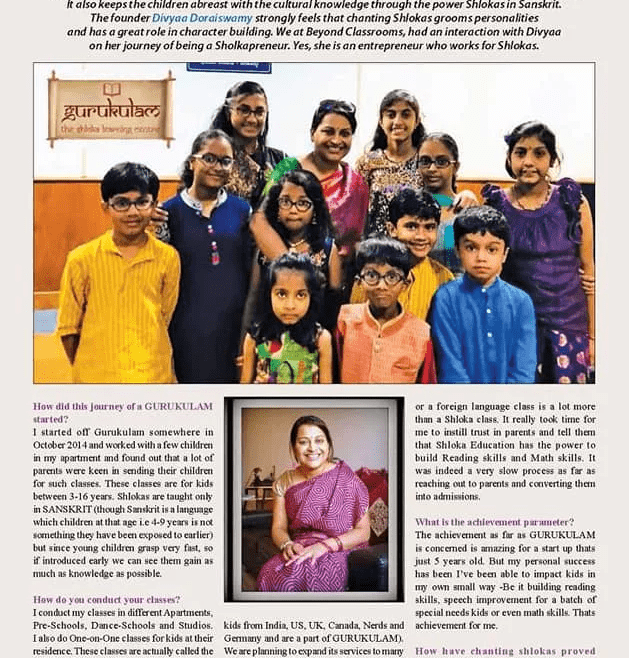 Featured in Beyond Classrooms