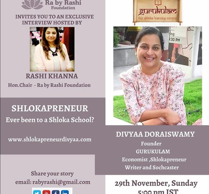 Catch me with Rashi Khanna this Sunday – 29/11/2020