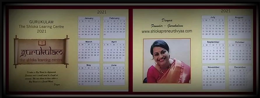 Rolling out GURUKULAM Calendars soon….