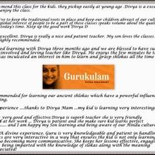 A few REVIEWS about GURUKULAM…