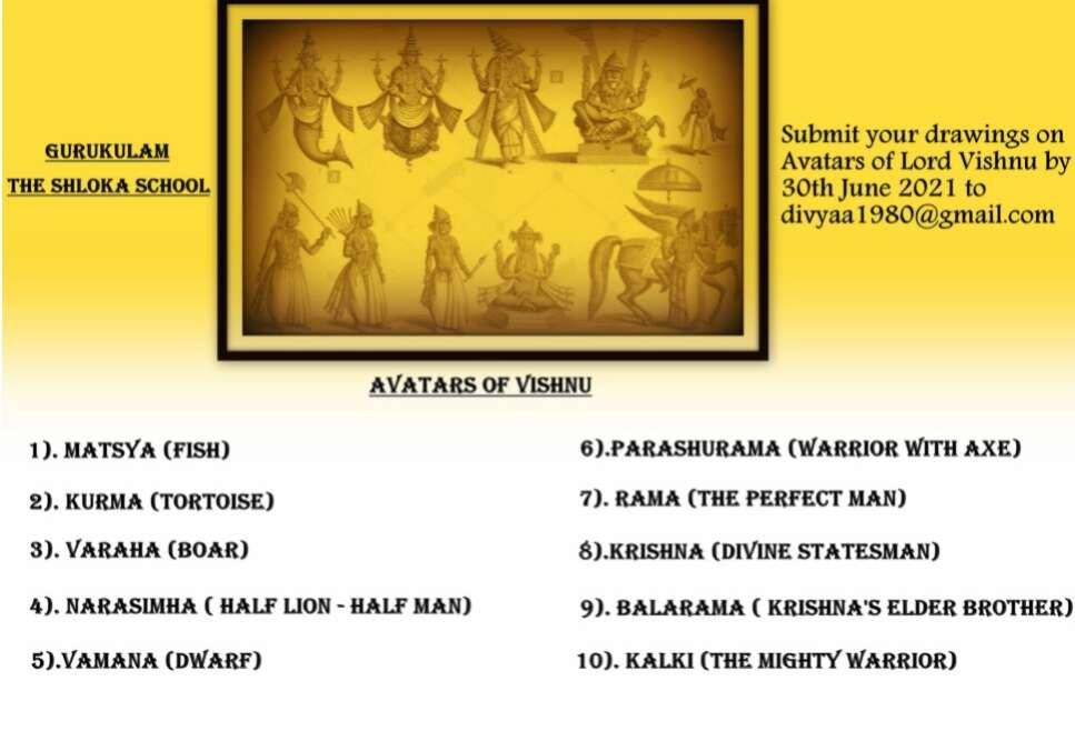 Project 2021 – Avatars of Vishnu (Art work)